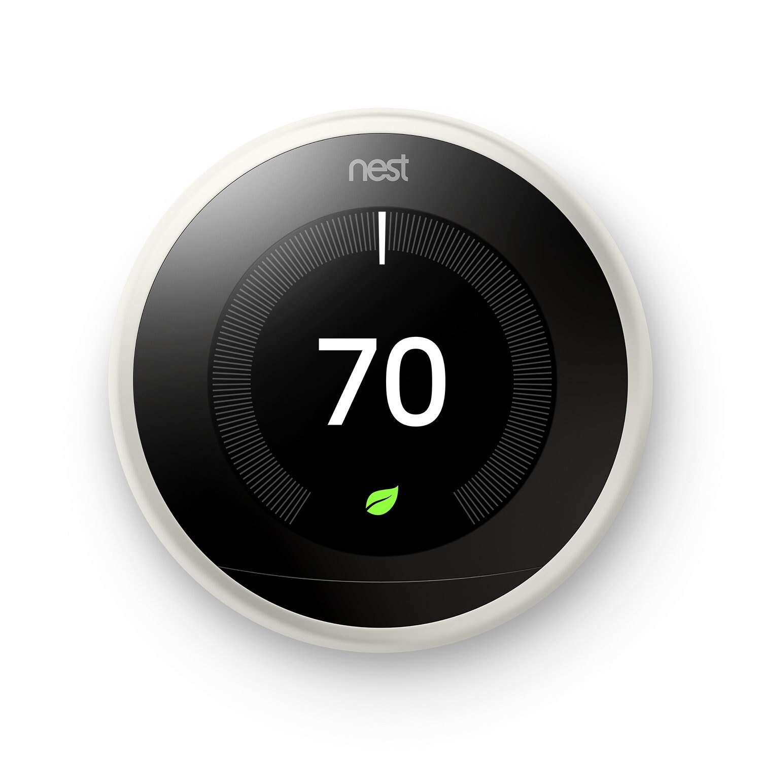 Nest Learning Thermostat 3rd Generation, White, Works with Amazon Alexa-White