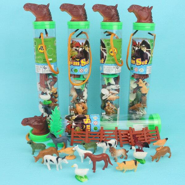 農場動物家禽模型桶仿真動物(21入混款)一桶入{促120}仿真家禽動物模型~生MC3021