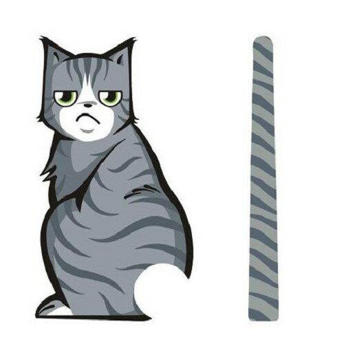 貓咪 後窗雨刷車貼 反光貓尾巴 憂鬱款 汽車 貼紙 會動的尾巴 BMW BENZ TOYOTA 沂軒精品 A0290
