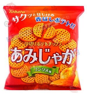 東鳩厚切網狀洋芋片(雞汁)60g【4901940034963】