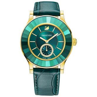 Swarovski 施華洛世奇 Octea Classica White Rose時尚晶圈腕錶/5123124綠面39mm