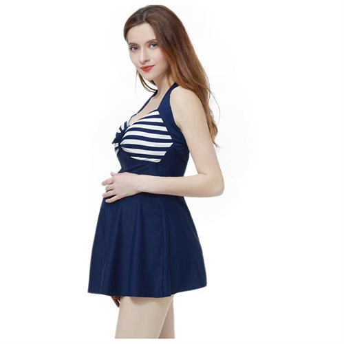 0ead9a1785 Luxury Lane: Momo Maternity UPF 50+ One Piece Halter Swimdress ...