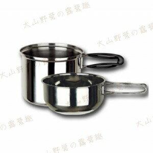 【露營趣】中和安坑 ARC-302 野樂 個人攜帶炊具 不鏽鋼鍋 不鏽鋼碗 單人鍋 二人鍋 雙人鍋