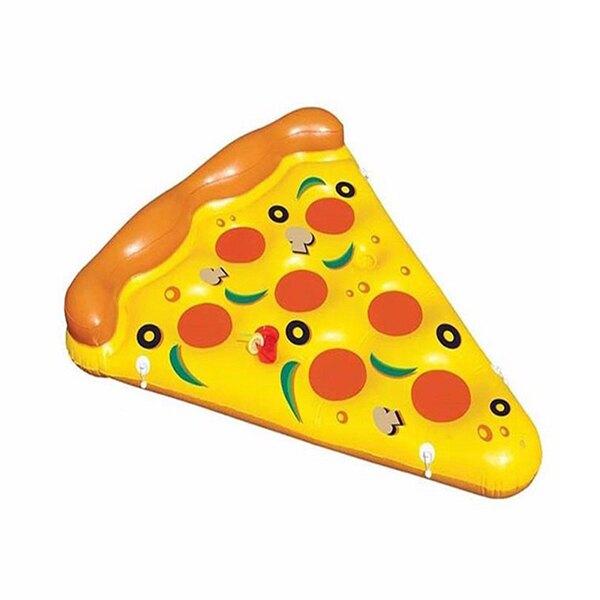 夏日必備 披薩水上充氣浮床游泳圈