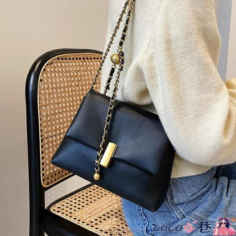 鍊條包 鍊條小方包斜背包女包洋氣側背包包2021新款潮簡約小包包女包洋氣 摩可美家