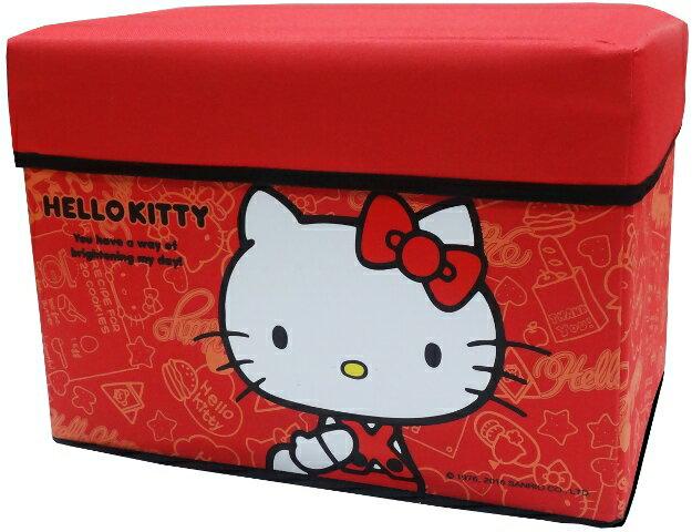 Hello Kitty 橫式收納椅
