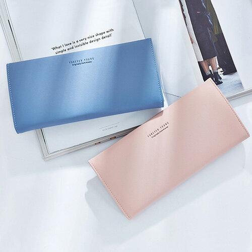 長夾 簡約搭扣皮夾卡包錢包長夾【WNB518-1】 BOBI  12/01 0