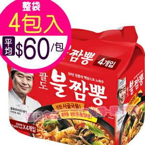 韓國八道 金海鮮炒碼麵(袋裝4包入) -泡麵- [KR229A] - 限時優惠好康折扣