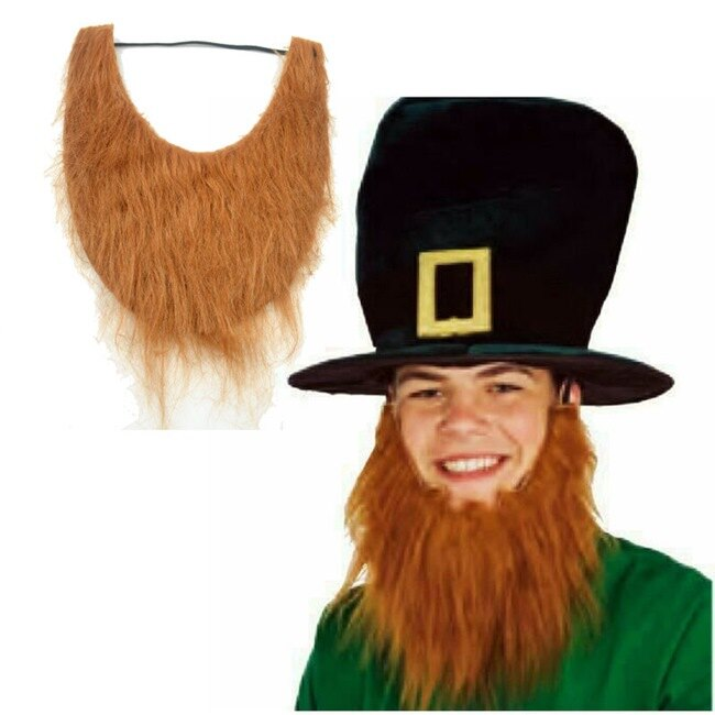 U型 鬍子 假鬍子海盜棕色 塔利班 絡腮鬍假鬍子 萬聖節/派對/服裝/角色扮演/變裝【塔克】