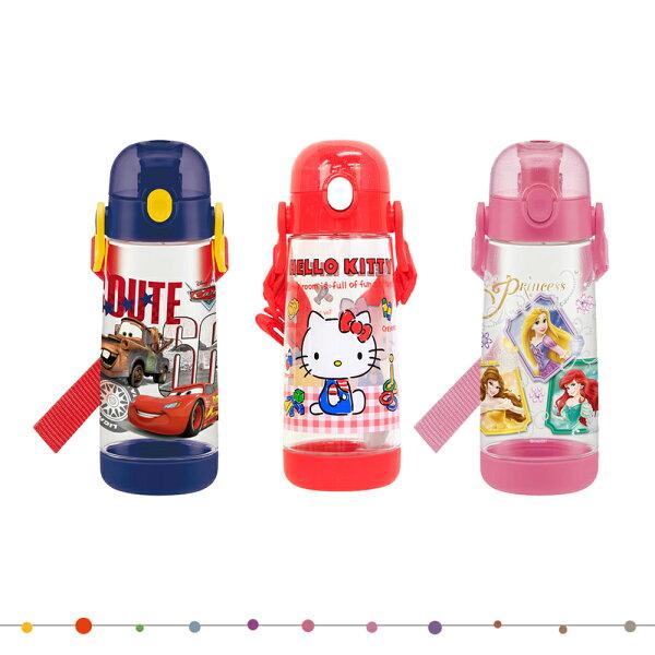SKATER迪士尼凱蒂貓公主CARS超輕量水壺冷飲瓶飲水壺480ML日本進口正版401688