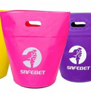 美麗大街【BF192E1E900】SAFEBET 可折疊手提桶 旅行戶外收納防水袋 伸縮收納桶