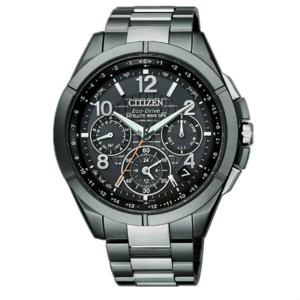 大高雄鐘錶城:CITIZEN星辰錶CC9075-52E廣告款鈦金屬類鑽鍍膜GPS衛星對時光動能腕錶黑面44mm