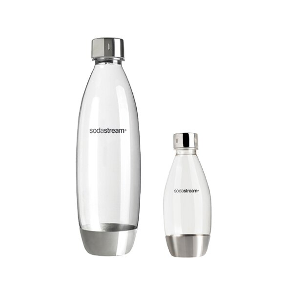 Sodastream 原廠水瓶/寶特瓶 專用水瓶 水滴型專用金屬水瓶500ML/1L