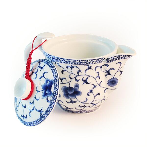 新純香:青花側壺