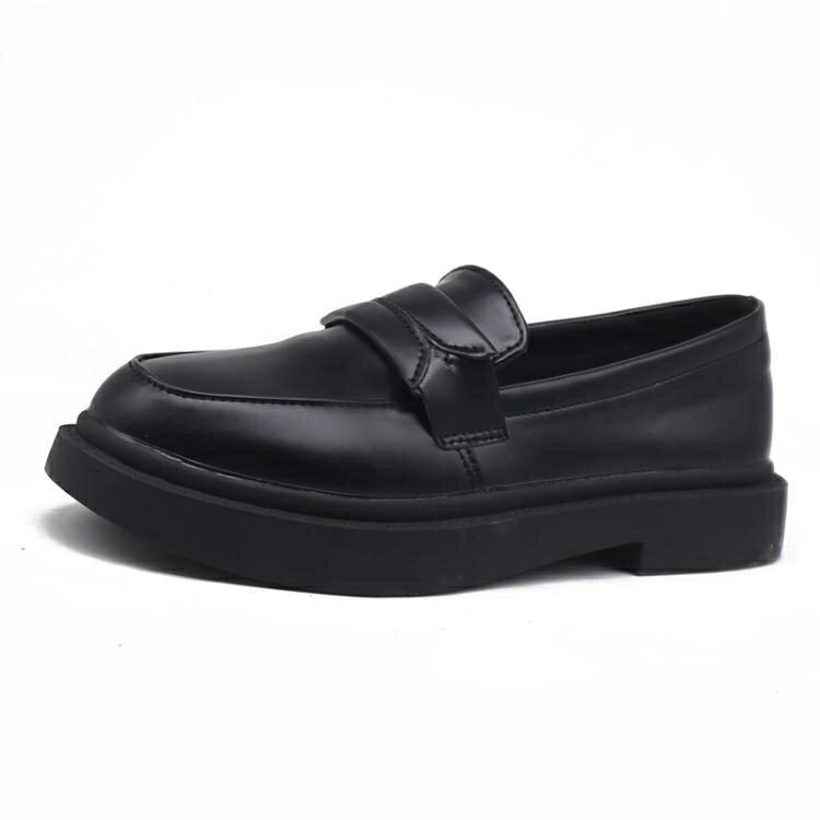 牛津鞋 大碼女鞋41-43黑色英倫風小皮鞋百搭平底韓版網紅加大碼女鞋40-43