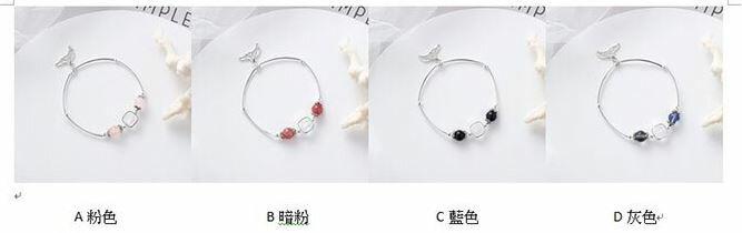 PS Mall 日韓甜美個性水晶珠子魚尾手鏈女士簡約情侶女生串珠手飾 【G2523】 8