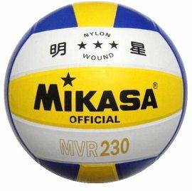 [陽光樂活=] 奧運指定品牌 明星排球 MIKASA MVR-230 黃白藍 彩色橡膠#5