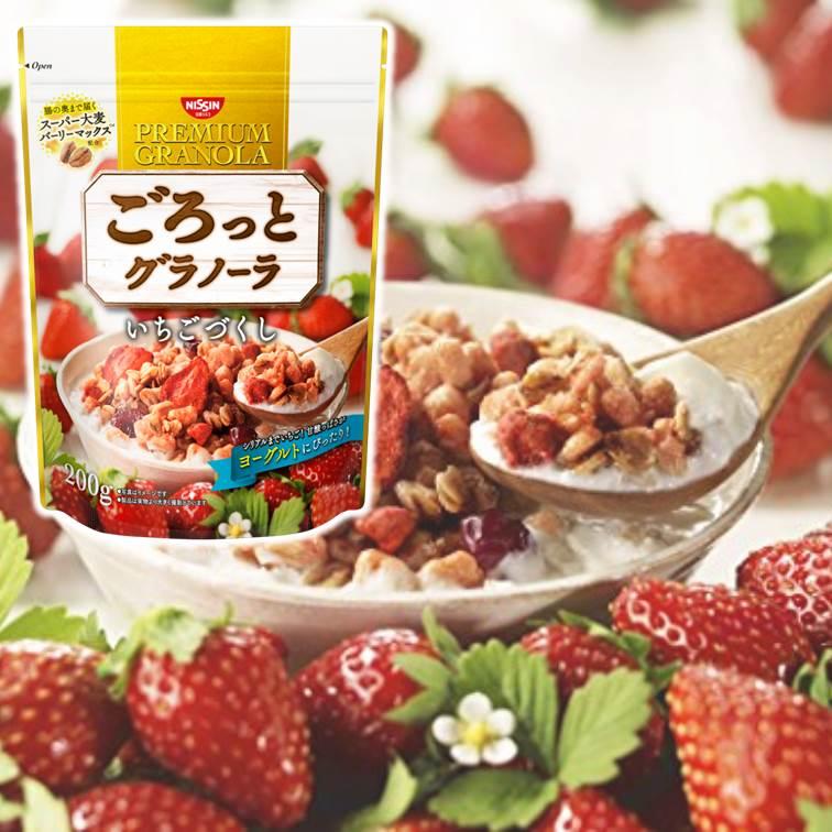 【SUPERSALE】Nissin日清綜合麥片-草莓蔓越莓 200g 早餐穀物麥片 ????????? ??????
