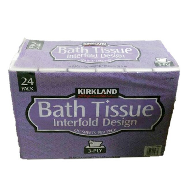 衛生紙 KIRKLAND 抽取式衛生紙  限宅配 24包X120抽 面紙 清潔 居家 面紙