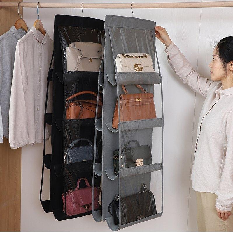 包包收納掛袋放包包整理神器收納袋掛袋墻掛式家用置物衣柜收納架