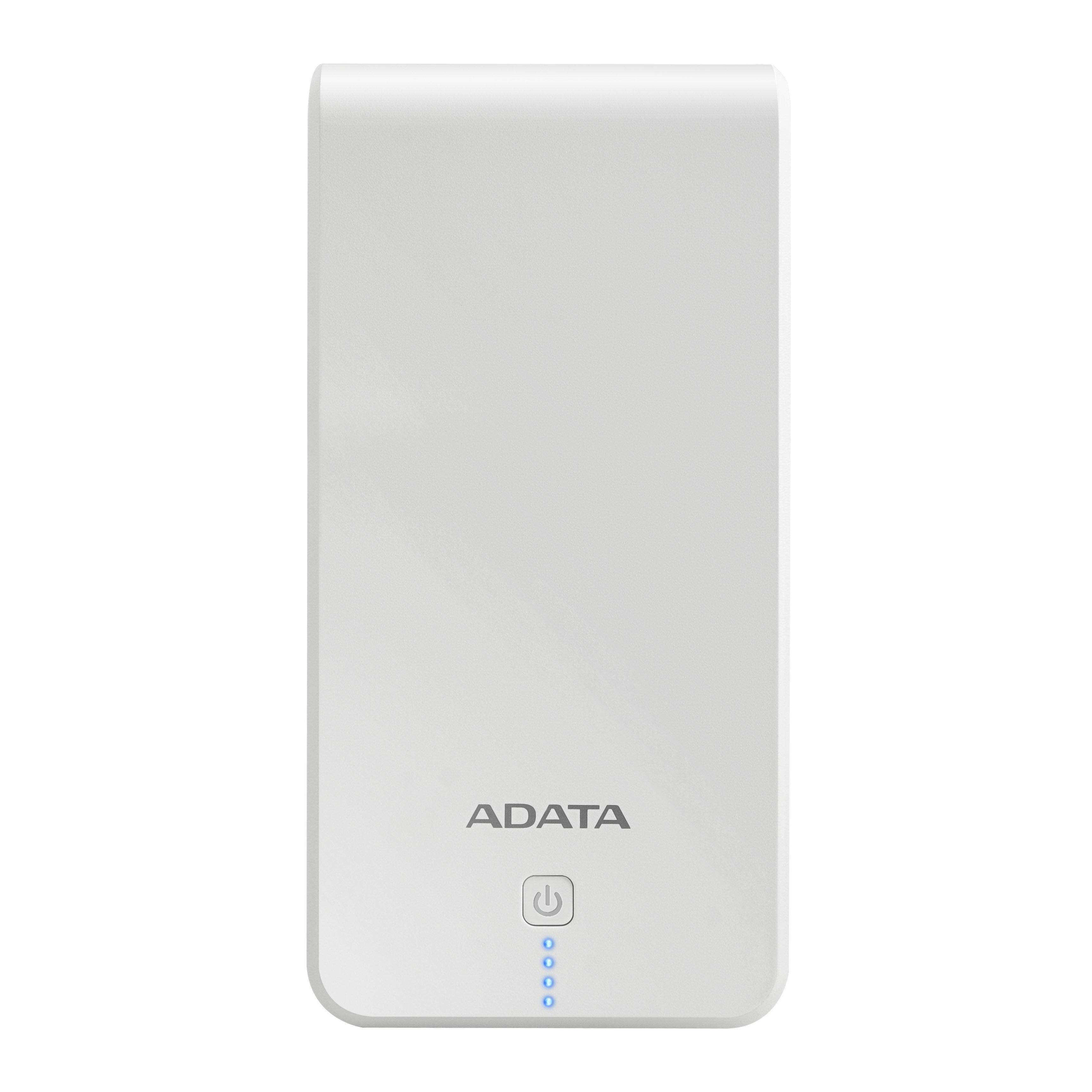 ADATA P20100 20000 mAh 2.1A Power Bank - White (AP20100-5V-CWHBL) 0