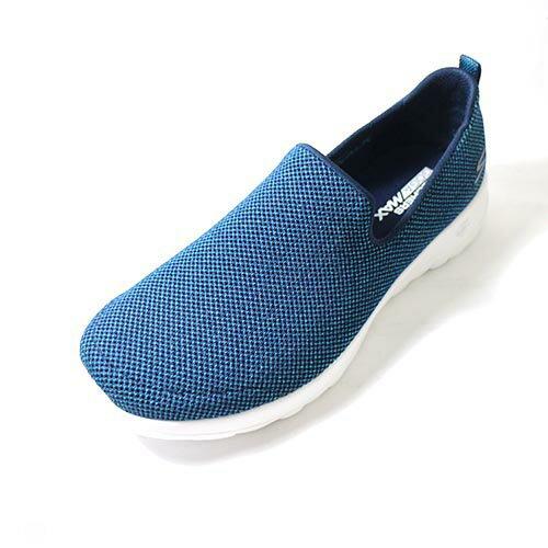 SKECHERS(女)健走系列GOWALKJOY套入式休閒健走鞋-15609NVTL藍綠點點2018新品【陽光樂活】
