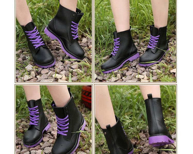 AT日韓-霧面感PVC馬丁雨鞋,低筒雨靴3色【S604004】 4