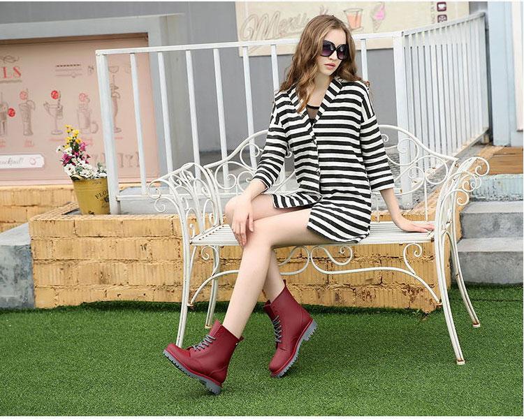 AppleTree日韓-霧面感PVC馬丁雨鞋,低筒雨靴3色【S604004】 1