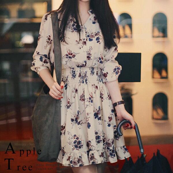 *499均一價*AT日韓-典雅的韓版碎花洋裝【807071】