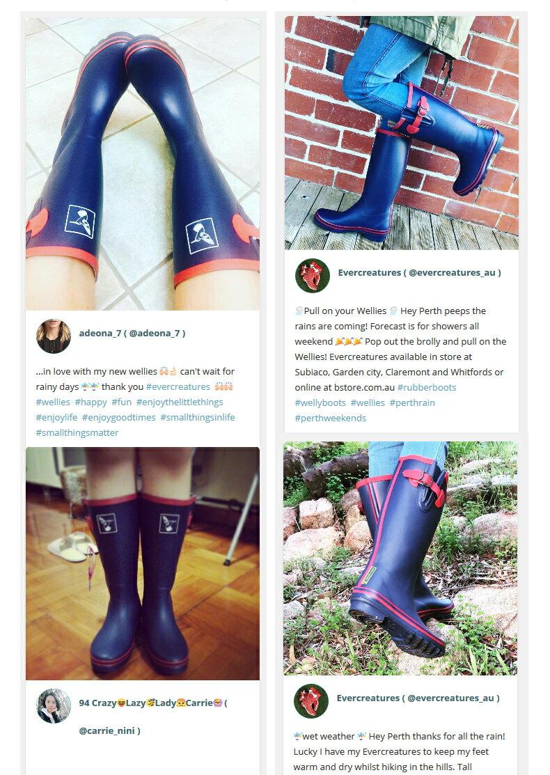 AT日韓-英國品牌雨鞋,藍色紅邊高筒雨靴馬靴【S809003】 4