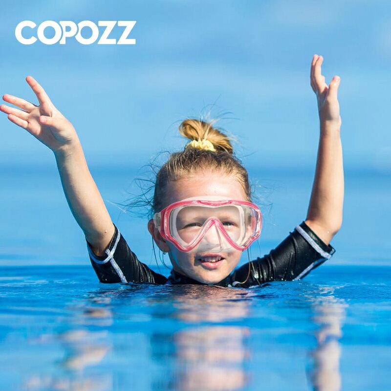 COPOZZ兒童潛水裝備面鏡呼吸管器套裝浮潛三寶全干式游泳面罩