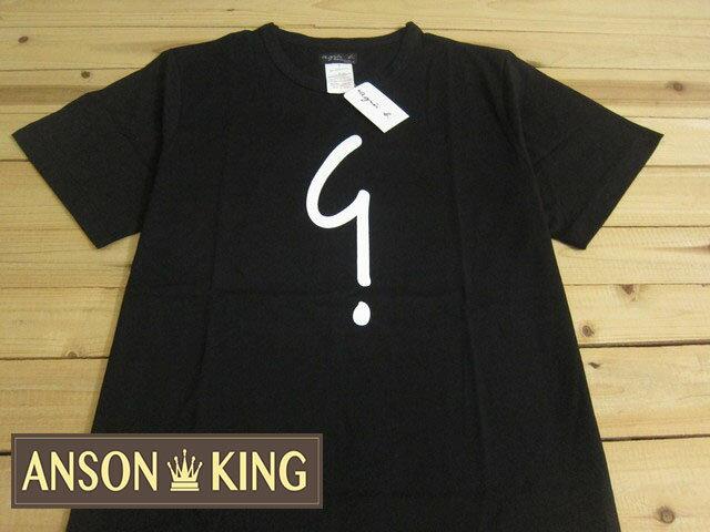[Anson king]outlet國外代購 agnes b.問號 logo 短袖 圓領 男款 T恤 黑 - 限時優惠好康折扣