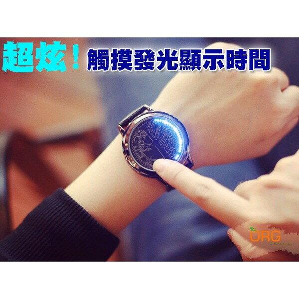 ORG《WC0004》盒裝超炫~智能觸控顯示時間 LED 發光/夜光 手錶/女錶/男錶 情侶錶 生日/交換/情人節 禮物