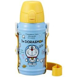 哆啦A夢 按壓式 直飲保溫瓶 郊遊藍黃 水瓶 水壺 小叮噹 日貨 正版授權J00012372