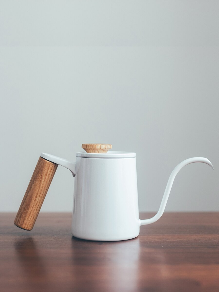 半宅日式咖啡器具北歐風茶水壺控水細口長嘴不銹鋼家用咖啡手沖壺