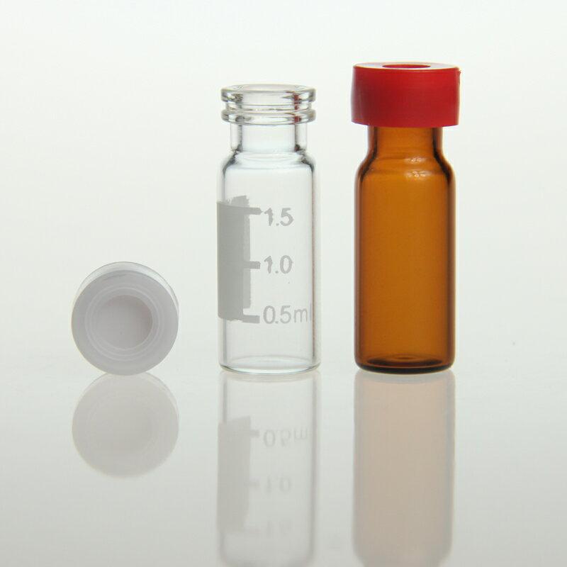 《實驗室耗材專賣》2ml 卡壓蓋式Vial瓶蓋 11mm 白色中空蓋 含PTFE膜 / silicone墊片 100pcs / pk 實驗儀器 玻璃製品 樣品瓶 儲存瓶 1