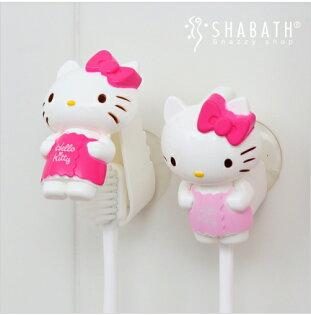 【真愛日本】18051500001吸盤式牙刷架-KT2入浴裙三麗鷗kitty凱蒂貓浴室牙刷架吸盤式