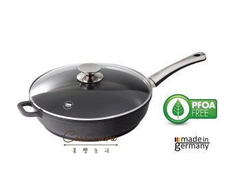 Berndes 寶迪黑鑽不沾鍋平底32公分炒鍋+ 原廠安全鍋蓋