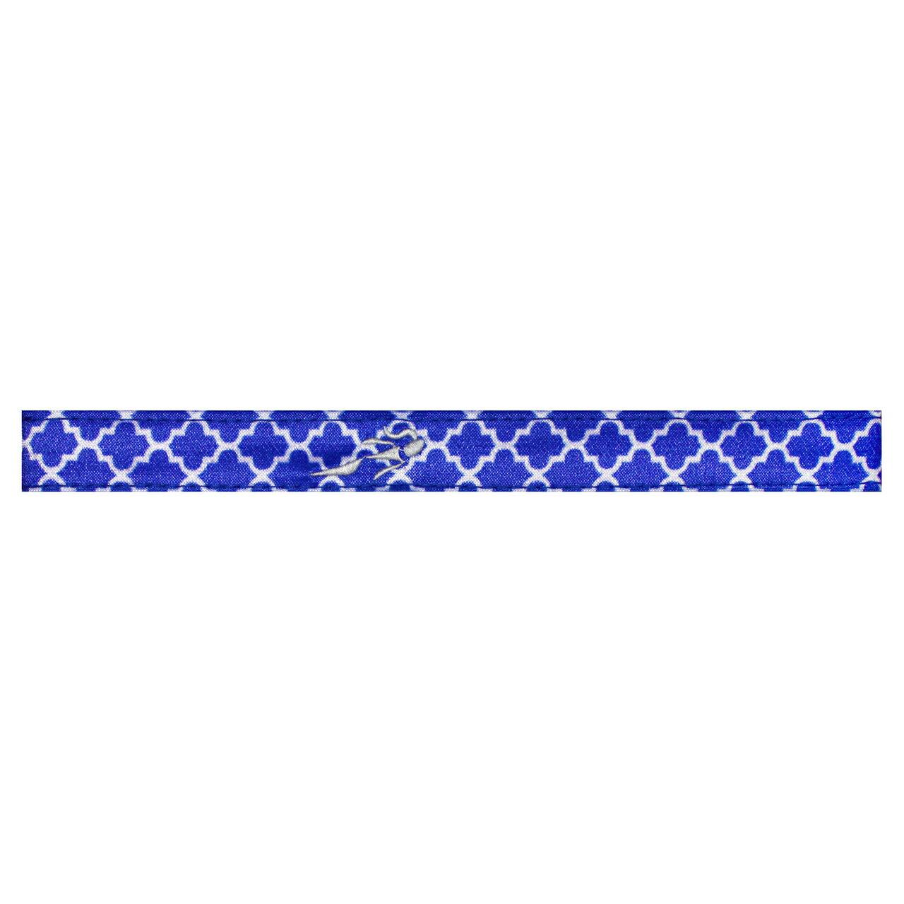 HEADSWEATS 汗淂 運動精品 髮帶(藍白格紋)