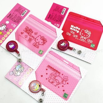HELLO KITTY 雙子星 伸縮 證件套 票卡套 悠遊卡套 夾鍊式 文具 配件 正版日本授權 JustGirl
