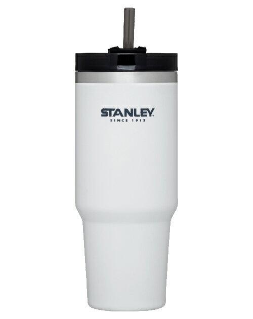 【Stanley 美國】冒險系列 吸管隨手杯 304不鏽鋼杯 冰霸杯 保溫杯 保冰杯 白色/10-02663 【880ml】