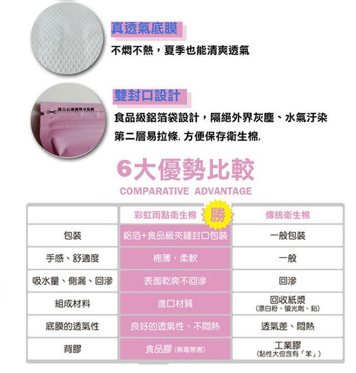 彩虹雨點 衛生棉-負離子夜用4片【德芳保健藥妝】 3