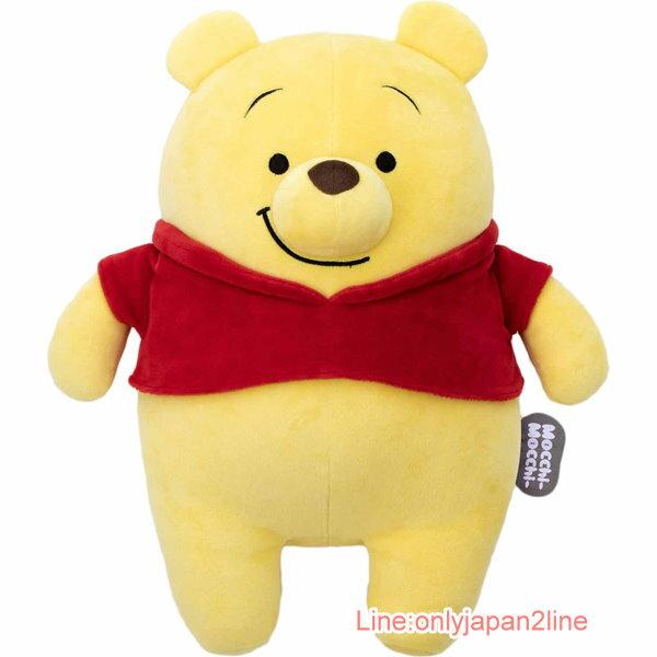 【真愛日本】17033000009 軟棉柔麵團抱枕M-Q維尼 迪士尼 小熊維尼 POOH 娃娃 擺飾 收藏 靠枕