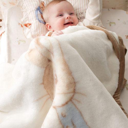 奇哥 比得兔 抗菌嬰兒帽帶毯~加贈奇哥提袋~