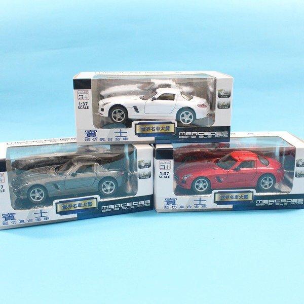 Benz模型車 合金車 (4號白盒)1:37 / 一台入 { 促199 }  Mercedes-Benz SLS AMG 賓士模型車 迴力車 生TOP307 3