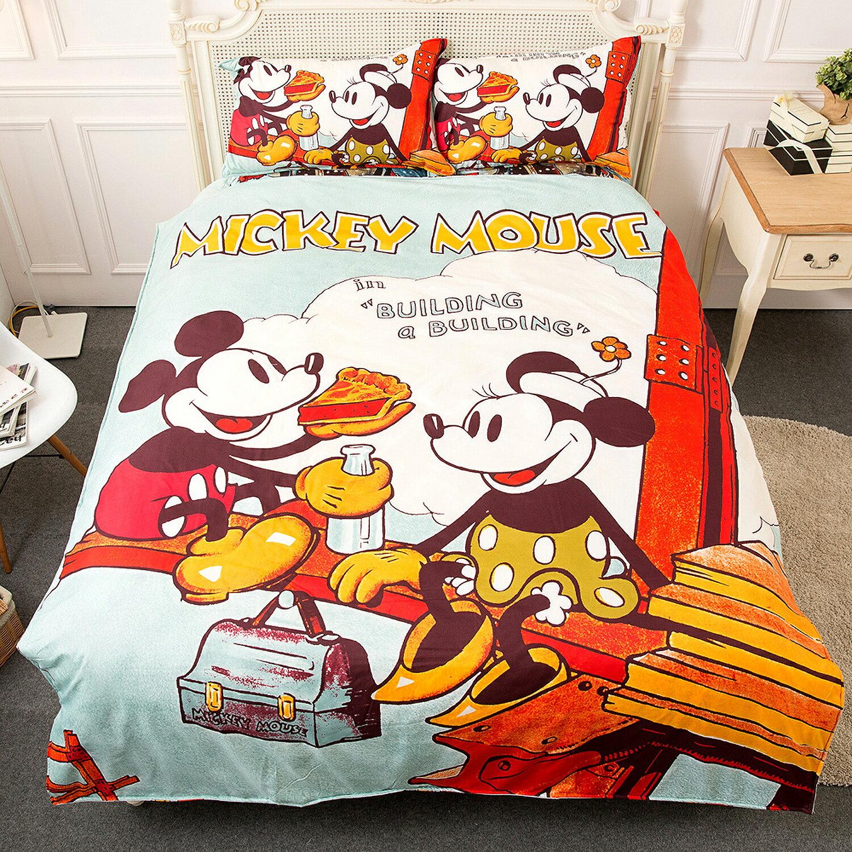 【名流寢飾家居館】迪士尼米奇米妮.甜蜜野餐.加大雙人床包組
