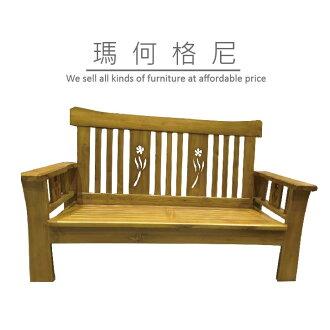 【瑪格何尼】幸運草 柚木 沙發 組椅 二人位(SF06-8122)含座墊