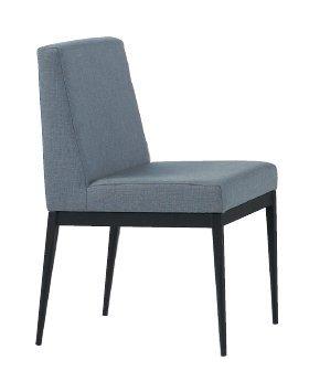 ~尚品傢俱~JF~988~7 卡特黑腳布餐椅~灰色