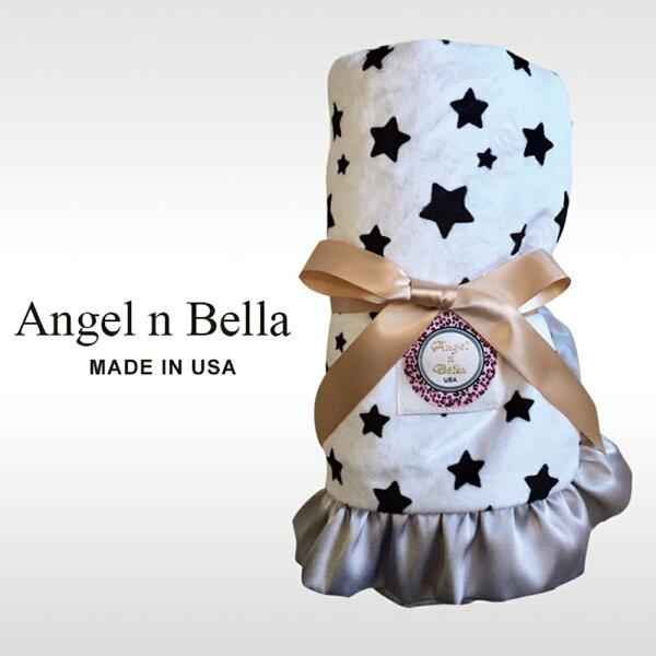 【麗嬰房】美國AngelnBella頂級攜帶毯-許願星星