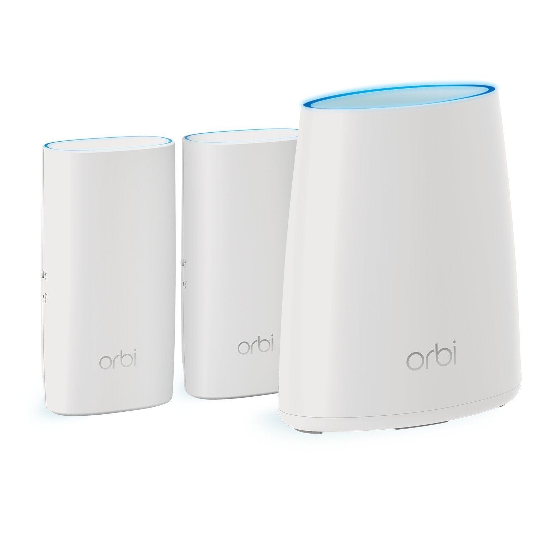Router /& 2 Satellites NETGEAR Orbi WallPlug Whole Home Mesh WiFi System RBK33